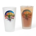 XMusic2 - Two HL Cresteds Drinking Glass