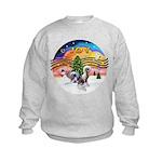 XMusic2 - Two HL Cresteds Kids Sweatshirt