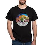 XMusic2 - Two HL Cresteds Dark T-Shirt