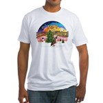 XMusic2 - HL Crested #1 Fitted T-Shirt