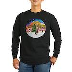 XMusic2 - HL Crested #1 Long Sleeve Dark T-Shirt