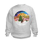XMusic2 - HL Crested #1 Kids Sweatshirt