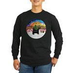 XMusic2-Puff Crested (BT) Long Sleeve Dark T-Shirt