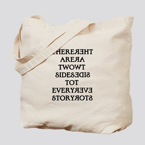 Two Sides Story Tote Bag