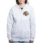 XM2-Chihuahua (bl-cream) Women's Zip Hoodie