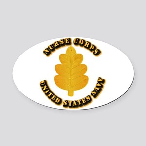 Navy - Nurse Corps Oval Car Magnet