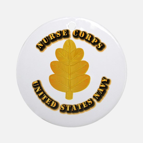 Navy - Nurse Corps Ornament (Round)