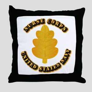 Navy - Nurse Corps Throw Pillow