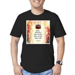 Celebrate Happy Birthday Men's Fitted T-Shirt (dk)