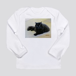 Black cat Long Sleeve Infant T-Shirt
