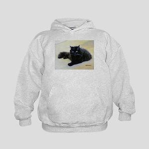 Black cat Kids Hoodie