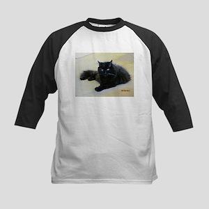 Black cat Kids Baseball Jersey