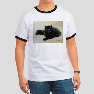 Black cat Ringer T