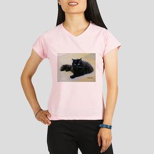 Black cat Performance Dry T-Shirt