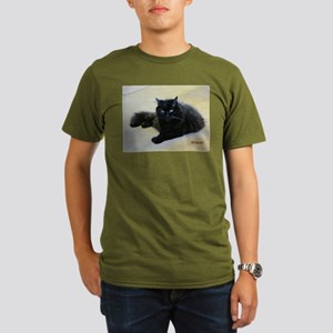 Black cat Organic Men's T-Shirt (dark)