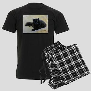 Black cat Men's Dark Pajamas