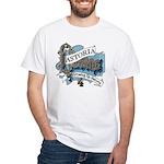 Growing Up Astoria Scroll T-Shirt (white)