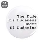 "El Duderino 3.5"" Button (10 pack)"