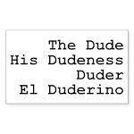 El Duderino Sticker (Rectangle)