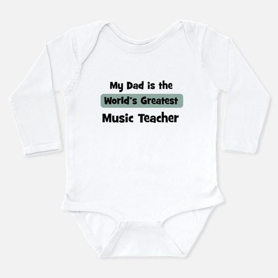 Unique World%27s greatest teacher Long Sleeve Infant Bodysuit