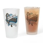 Growing Up Astoria Scroll Drinking Glass