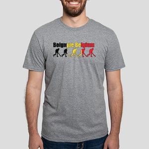Belgium Field Hockey Mens Tri-blend T-Shirt