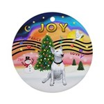 XMusic2 - Bull Terrier (#1W) Ornament (Round)