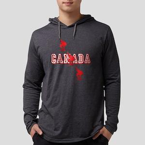Canada Speedskating Mens Hooded Shirt