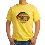 XMusic2 - Three Cairns Yellow T-Shirt