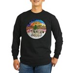XMusic2 - Three Cairns Long Sleeve Dark T-Shirt