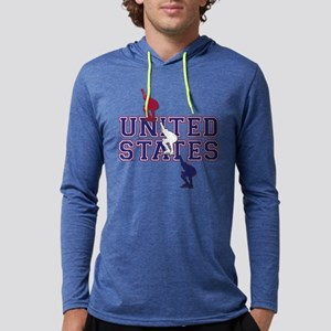 USA Speedskating Mens Hooded Shirt