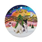 XMusic2-Two Fox Terriers Ornament (Round)