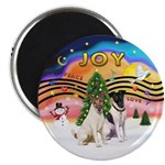 XMusic2-Two Fox Terriers Magnet