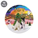 """XMusic2-Two Fox Terriers 3.5"""" Button (10 pack"""