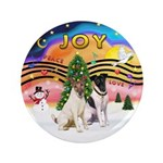 """XMusic2-Two Fox Terriers 3.5"""" Button (100 pac"""