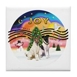 XMusic2-Two Fox Terriers Tile Coaster