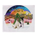 XMusic2-Two Fox Terriers Throw Blanket