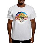 XMusic2-Two Fox Terriers Light T-Shirt