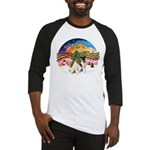 XMusic2-Two Fox Terriers Baseball Jersey