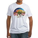 XMusic2-Two Fox Terriers Fitted T-Shirt