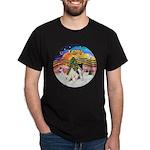 XMusic2-Two Fox Terriers Dark T-Shirt