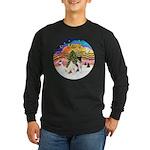 XMusic2-Two Fox Terriers Long Sleeve Dark T-Shirt