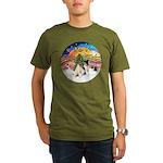 XMusic2-Two Fox Terriers Organic Men's T-Shirt (da