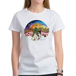 XMusic2-Two Fox Terriers Women's T-Shirt