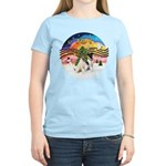 XMusic2-Two Fox Terriers Women's Light T-Shirt