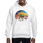 XMusic2-Two Fox Terriers Hooded Sweatshirt