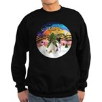 XMusic2-Two Fox Terriers Sweatshirt (dark)