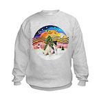 XMusic2-Two Fox Terriers Kids Sweatshirt