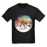 XMusic2-Two Fox Terriers Kids Dark T-Shirt