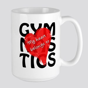 My Heart Belongs to Gymnastics Large Mug